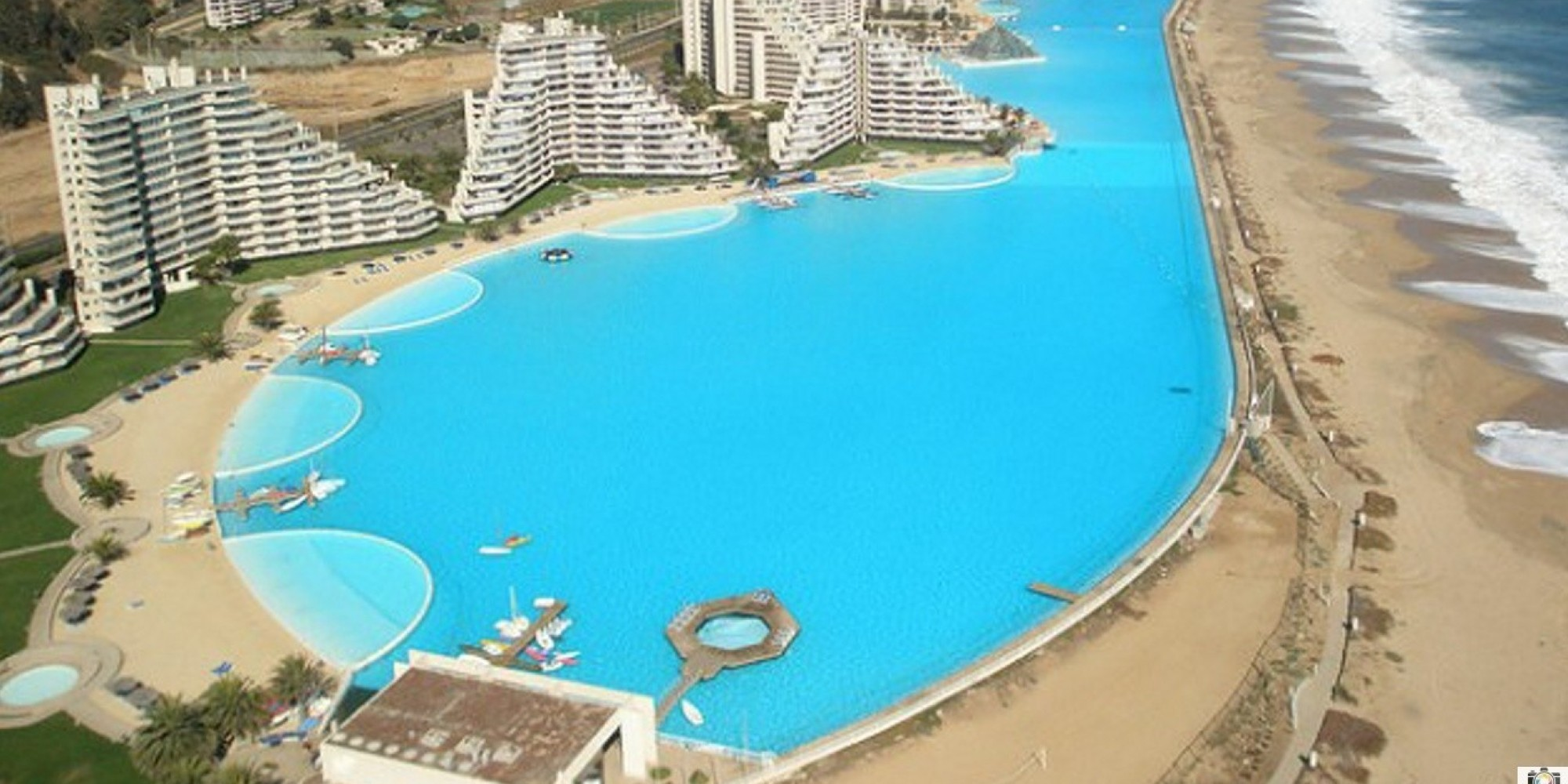 World's Largest Outdoor Pool At Chile's San Alfonso del Mar Resort (PHOTOS)  | HuffPost