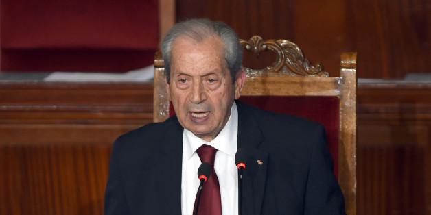 Mohamed Ennaceur, président de l'Assemblée, lors de son premier discours à l'Assemblée, le 4 décembre