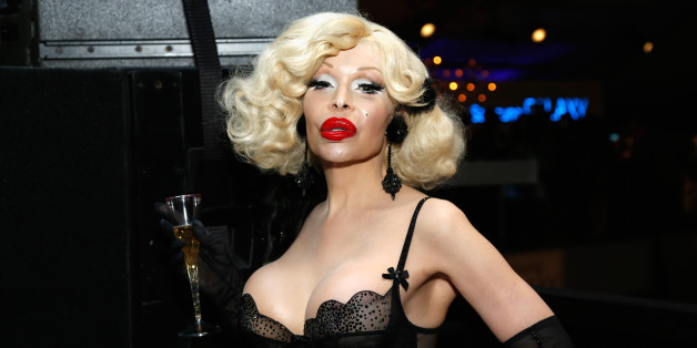 NEW YORK, NY - SEPTEMBER 10:  Amanda Lepore attends Day 6 of Mercedes-Benz Fashion Week Spring 2014 at Lincoln Center for the Performing Arts on September 10, 2013 in New York City.  (Photo by Cindy Ord/Getty Images for Mercedes-Benz Fashion Week Spring 2014)