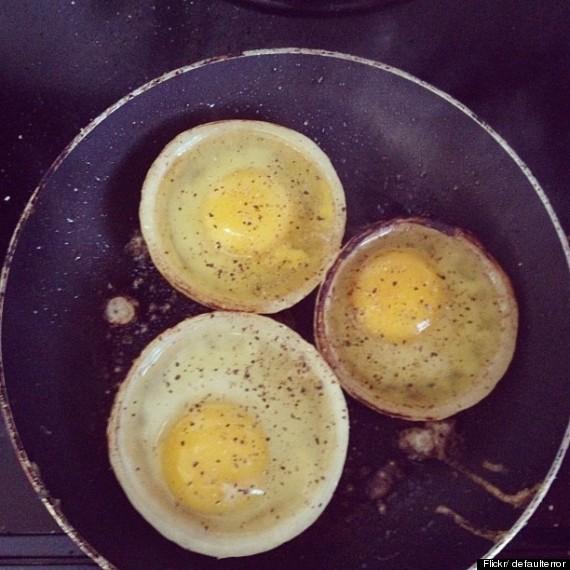 fried egg onion
