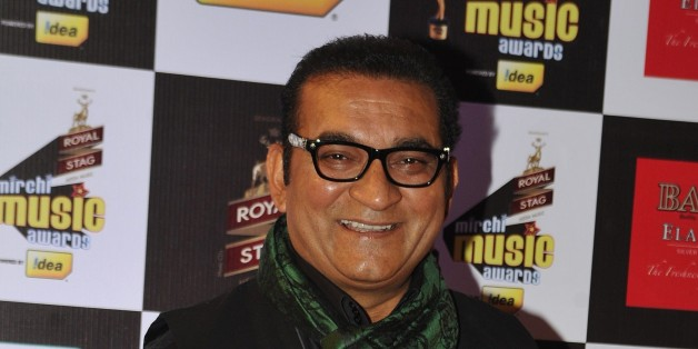 Indian Bollywood play back singer Abhijeet Bhattacharya attends the 'Mirchi Music Awards 2015' ceremony in Mumbai on February 26, 2015.    AFP PHOTO        (Photo credit should read STR/AFP/Getty Images)