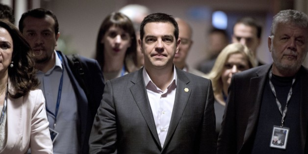 Greek Prime Minister Alexis Tsipras arrives for a press conference on March 20, 2015 at the end of a European Union summit at the EU Council building in Brussels.  AFP PHOTO / ALAIN JOCARD        (Photo credit should read ALAIN JOCARD/AFP/Getty Images)