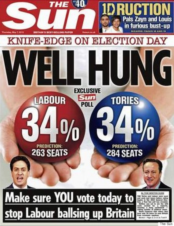 sun election front page