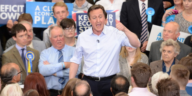 Prime Minister David Cameron attends a rally at Hetherington Livestock Mart in Carlisle, during General Election campaigning. PRESS ASSOCIATION Photo. Picture date: Wednesday May 6, 2015. See PA story ELECTION Tories. Photo credit should read: Stefan Rousseau/PA Wire