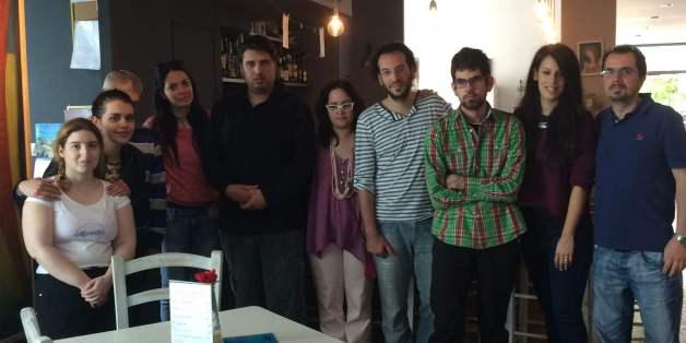 Η ομάδα του καφέ «Μύρτιλλο«