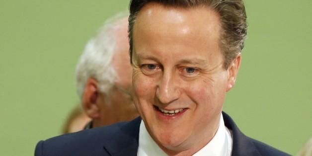 영국 총선에서 완승을 거둔 보수당 대표 데이비드 캐머런 총리