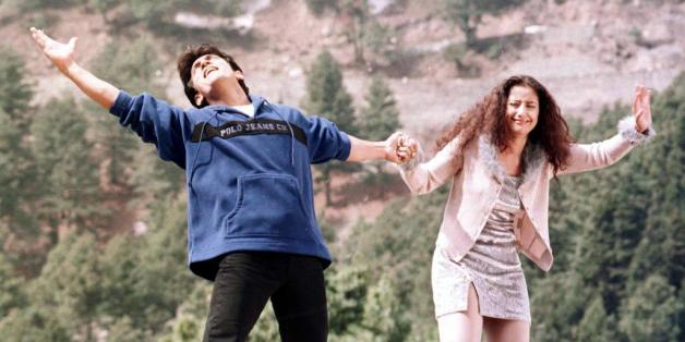 GULMARG, INDIA:  Indian actors Amir Khan (L)  and Monisha Querrilla perform a dance sequence during the filming of the movie 'Mann' in the city of Gulmarg in India's troubled province of Kashmir 06 April 1999. This is the fourth movie to be shot by India's 'Bollywood' film industry in Kashmir in 1999 after a long absence from the area due to unrest which has claimed more than 24,000 lives since Moslem separatists launched an anti-Indian rebellion in 1989. AFP PHOTO/TAUSEEF MUSTAFA (Photo credit