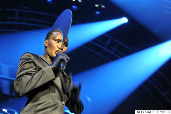 grace jones performing