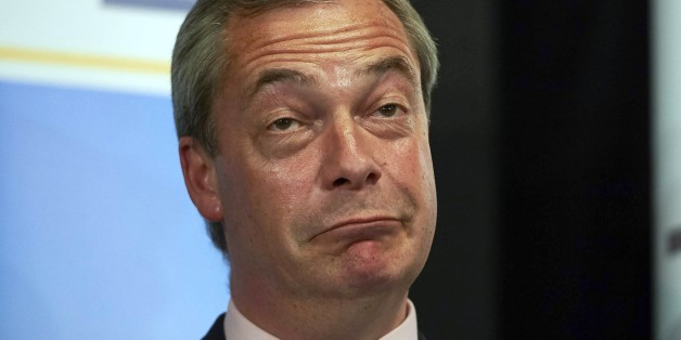 United Kingdom Independent Party (UKIP) leader Nigel Farage reacts after he failed to be elected to the parliamentary seat of Thanet South in Margate, southeast England, on May 8, 2015 during the British general election. Farage announced his resignation as leader of the anti-EU UKIP after he failed to win a seat in Britain's parliament. AFP PHOTO / NIKLAS HALLE'N        (Photo credit should read NIKLAS HALLE'N/AFP/Getty Images)