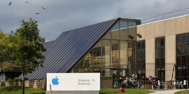 TO GO WITH AN AFP STORY BY CONOR BARRINSA view of buildings on The Apple campus in Cork, southern Ireland on October 2, 2014. Perched on top of a hill overlooking the Irish city of Cork, surrounded by a dated industrial estate, Apple's European headquarters is an unlikely base for the world tech giant -- now under growing scrutiny over its local tax arrangements. The company has been in Cork since 1980 but the European Commission's suggestion that its tax deal with Ireland may amount to illegal
