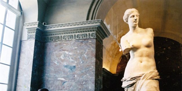 Aphrodite of Milos, aka Venus de Milo, in the Louvre. I looked everywhere for the corresponding Gummi version, but no luck.