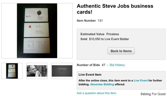 Three Rare Steve Jobs Business Cards Just Sold For Over 10 000