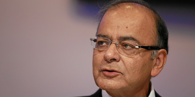 Arun Jaitley, Minister of Finance, Corporate Affairs and Information and Broadcasting of India is captured during the session 'An Insight, An Idea' in the congress centre at the Annual Meeting 2015 of the World Economic Forum in Davos, January 22, 2015.WORLD ECONOMIC FORUM/swiss-image.ch/Photo Jolanda Flubacher