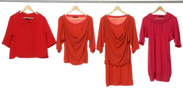 fashion female red clothing...