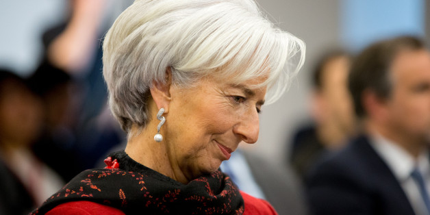 International Monetary Fund Managing (IMF) Director Christine Lagarde sits in the audience before speaking at the Atlantic Council, Thursday, April 9, 2015, in Washington. Lagarde looks ahead to the 2015 IMF/World Bank Spring Meetings and discusses the state of the global economy and the challenges and risks. (AP Photo/Andrew Harnik)