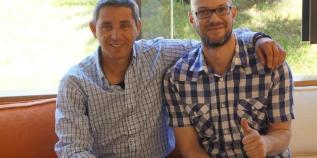 Οι ιδρυτές του YourGreekOliveOil, Χρήστος Παπαηλιόπουλος και Γιάννης Ασλάνης.