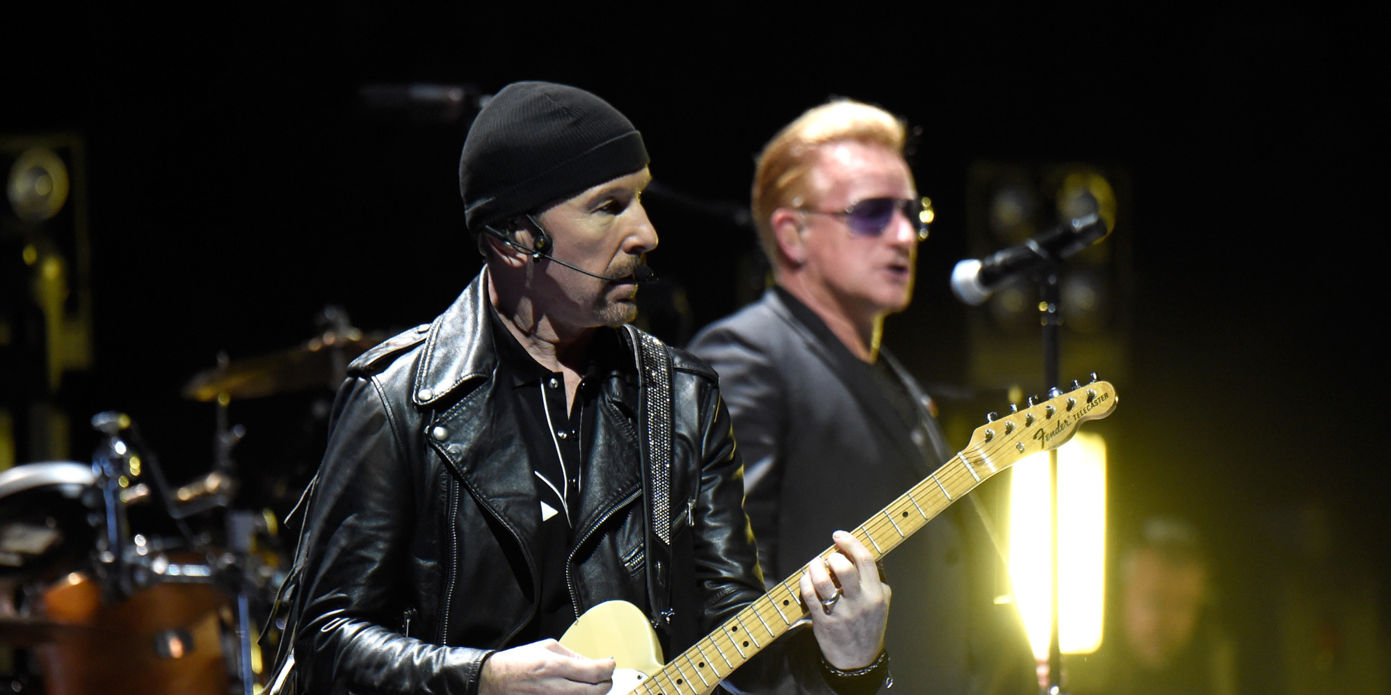 The Edge Falls Off Stage During U2 Concert And It's Hilarious, Unfortunately | HuffPost