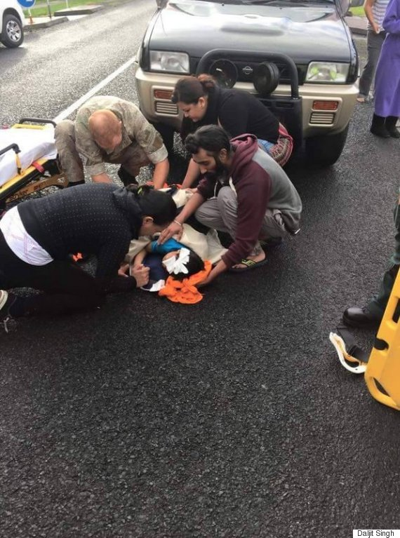 sikh saves injured boy