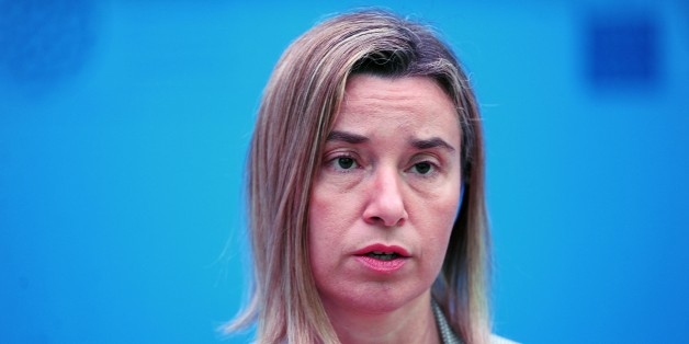 High Representative of the European Union for Foreign Affairs and Security Policy Federica Mogherini speaks on May 14, 2015 at the NATO Foreign Minister's Meeting in the southern Turkish city in Antalya. NATO leaders on May 13 warned President Vladimir Putin to waste no time in implementing a fragile peace deal to end the fighting in Ukraine, after the Russian strongman's meeting with US Secretary of State John Kerry raised hopes of a slackening in tensions. AFP PHOTO /STRINGER        (Photo cre