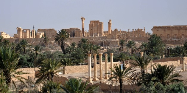 A general view taken on May 18, 2015 shows the ancient Syrian city of Palmyra, a day after Islamic State (IS) group jihadists fired rockets into the city, killing several people. Fierce clashes have rocked Palmyra's outskirts since IS launched an offensive on May 13 to capture the 2,000-year-old world heritage site nicknamed 'the pearl of the desert'.  AFP PHOTO /STR        (Photo credit should read STR/AFP/Getty Images)