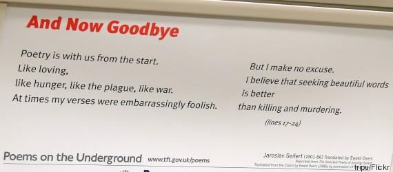 poems london underground