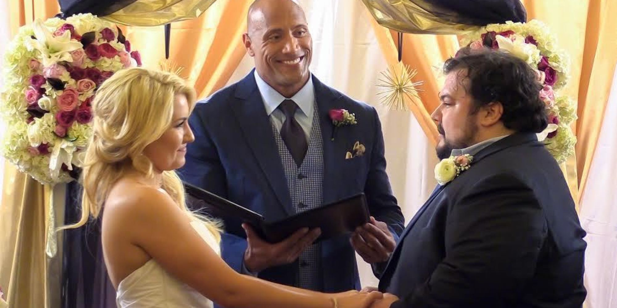 Attention Everyone The Rock Is Now An Experienced Wedding Officiant Huffpost