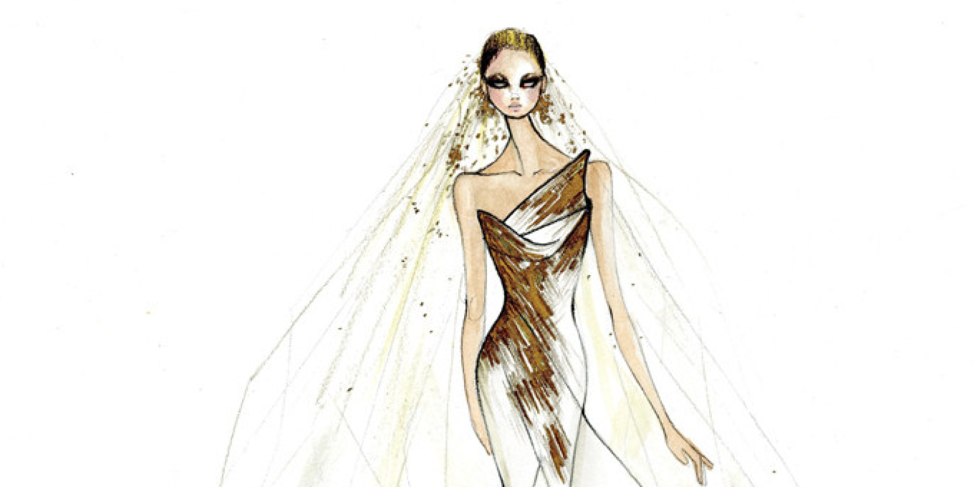 The Lady Gaga Wedding Dress Sketches That Left The Star \'Speechless ...