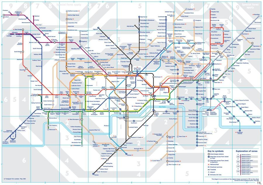 new tube map transport for london underground