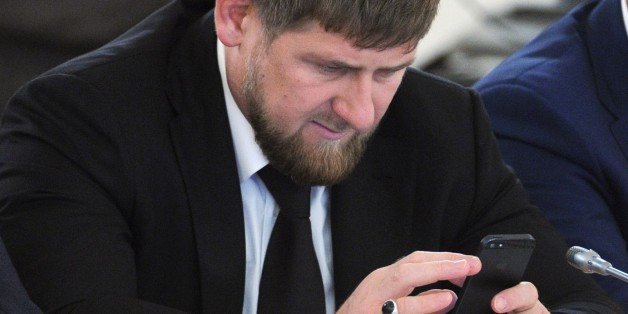 Chechnya's Regional leader Ramzan Kadyrov attends a State Council meeting chaired by President Vladimir Putin in the Kremlin in Moscow, Friday, May 31, 2013. (AP Photo/RIA-Novosti, Mikhail Klimentyev, Presidential Press Service)