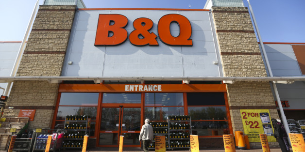 A customer enters a B&Q home improvement store
