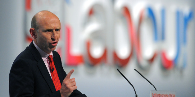 John Healey Labour's Shadow Secretary of State for Health addresses delegates during the fourth day of the annual Labour pary conference in Liverpool, north-west England on September 28, 2011. AFP PHOTO/ANDREW YATES. (Photo credit should read ANDREW YATES/AFP/Getty Images)