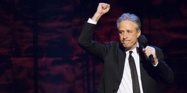 "Jon Stewart hosts Comedy Central's ""Night of Too Many Stars: America Comes Together for Autism Programs"" at the Beacon Theatre on Saturday, Feb. 28, 2015, in New York. (Photo by Charles Sykes/Invision/AP)"