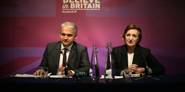 Ukip economic spokesman Patrick O'Flynn and Ukip deputy chairman Suzanne Evans speaking about housing at a press conference in London.