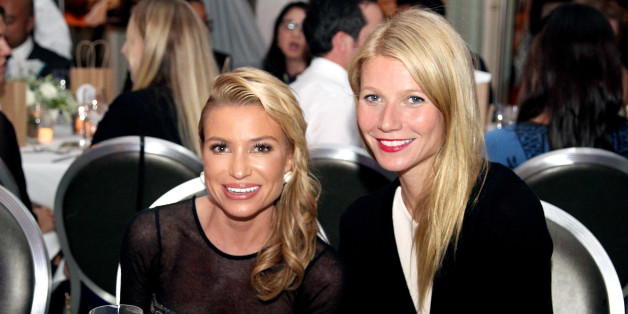 Tracy Anderson, left, and Gwyneth Paltrow, right, at a November 2014 gala in honor of Anderson.  (Photo by Rachel Murray/Getty Images for imagine1Day)