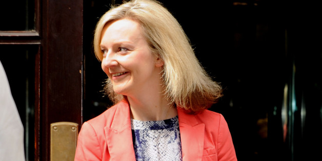Newly appointed environment secretary Liz Truss outside the Department for Education, London, as Prime Minister David Cameron starting putting his new ministerial team in place.