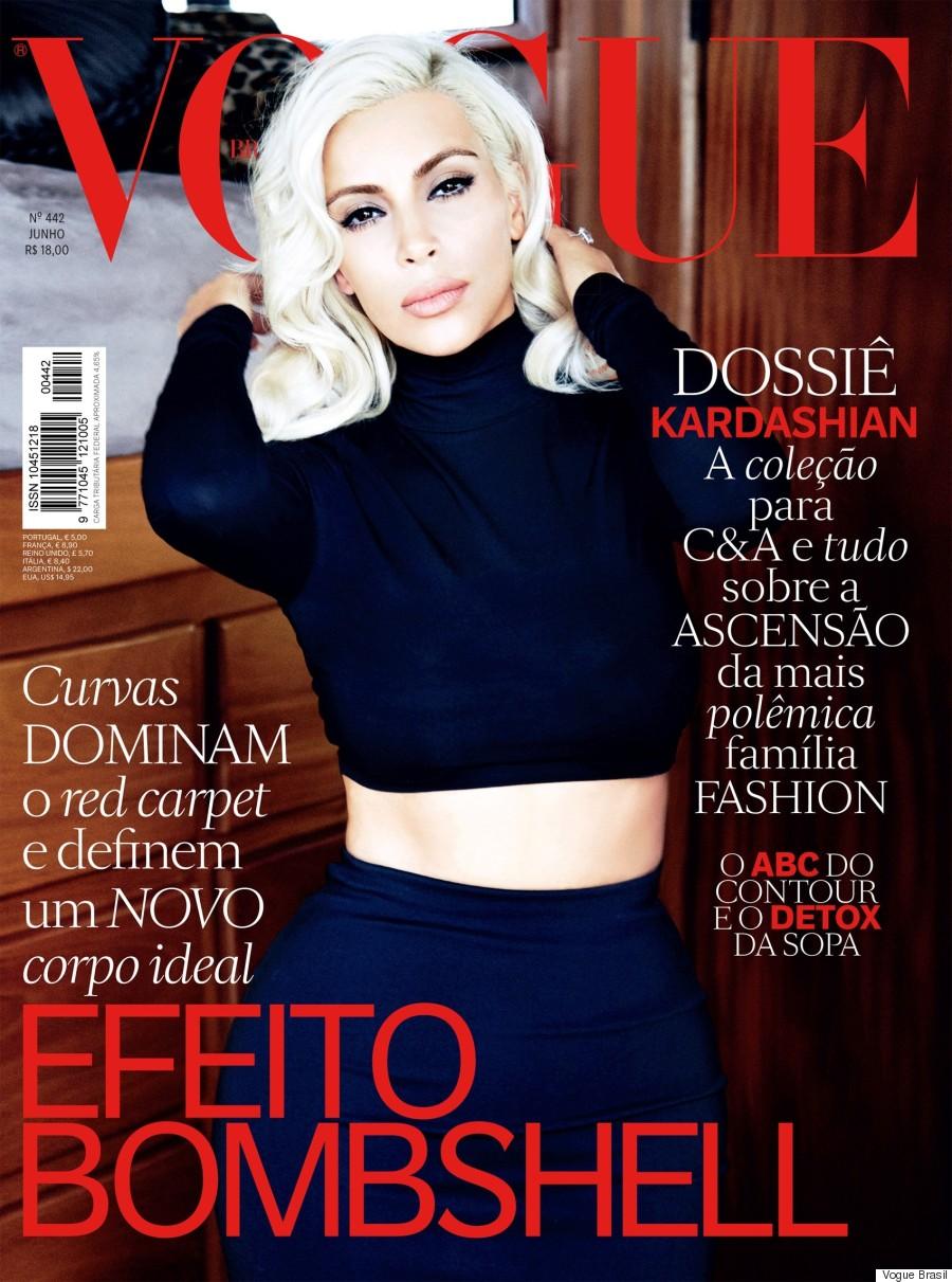 kim kardashian vogue brasil
