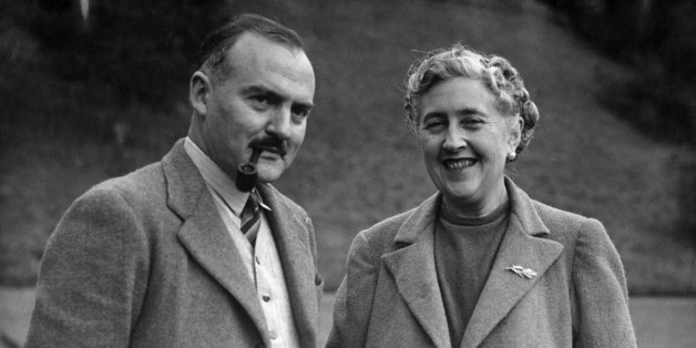 Writer Dame Agatha Christie, and her husband Max E. L. Mallowan, pose in March 1946 in the ground of their home, Greenway House, in Devonshire. Agatha Christie, born Miller (1890-1976) in Torquay, Devon, wrote, under the surname of her fist husband Colonel Archibald Christie (divorced in 1928) more than 70 detective novels featuring the Belgian detective, Hercule Poirot, or the inquiring village lady, Miss Marple. In 1930, Christie married Max E. L. Mallowan (1904-1978; knighted in 1968), profes