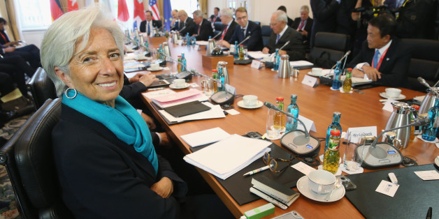 DRESDEN, GERMANY - MAY 28:  International Monetary Fund (IMF) Managing Director Christine Lagarde attends a working session during a meeting of finance ministers of the G7 group of nations on May 28, 2015 in Dresden, Germany. The G7 finance ministers are meeting ahead of the upcoming G7 summit at Schloss Elmau in June.  (Photo by Sean Gallup/Getty Images)