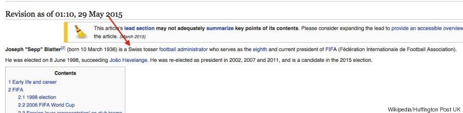 wikipedia sepp blatter