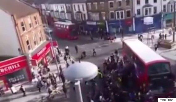 unicyclist under bus