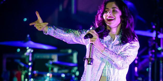 LAS VEGAS, NV - April 13: ***HOUSE COVERAGE***  Marina and The Diamonds at The Boulevard Pool at The Cosmopolitan of Las Vegas in Las Vegas, NV on April 13, 2015. Credit: Erik Kabik Photography/ Retna Ltd./MediaPunch/IPX