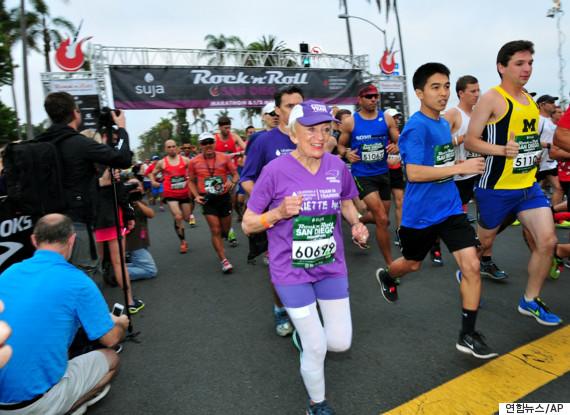 old woman marathon 92