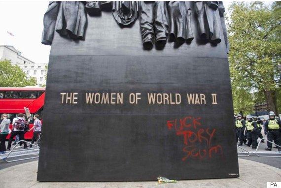 war memorial vandalism