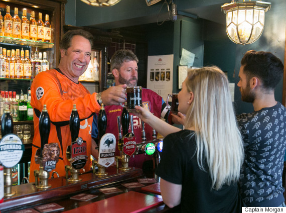 david seaman andy townsend bartenders pub london