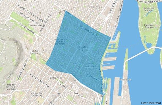 uber slingshot montreal map
