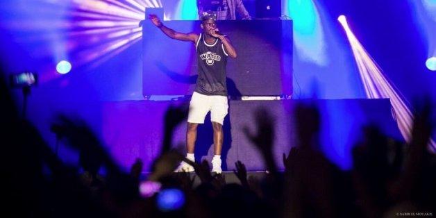Le rappeur Black M fait jumper la foule du Bouregreg