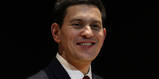 David Miliband presenting his Kennedy Memorial Trust lecture, entitled 'America, Britain & Europe: Lessons from JFK', at the British Library Conference Centre, in London.