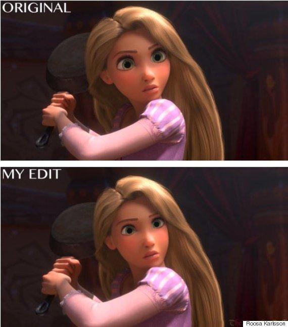 rapunzel realistic face