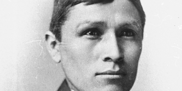 A Navajo named Tom Torlino is photographed in 1890 after completing a three-year course at the Carlisle Indian School, in Carlisle, Pennsylvania.  (AP Photo/Cumberland County Historical Society)