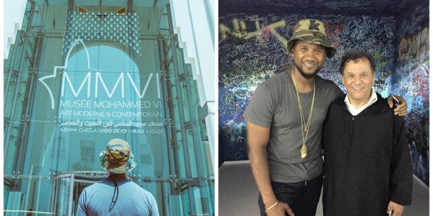 Usher et l'art contemporain marocain